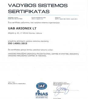 Arionex-ISO-14001-2015-2017-LT