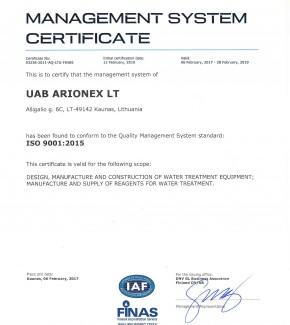 Arionex-ISO-9001-2015-2017-EN