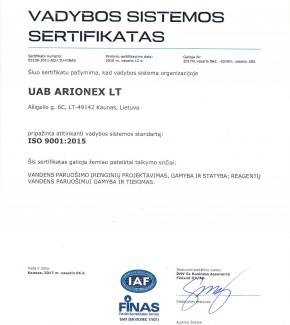 Arionex-ISO-9001-2015-2017-LT